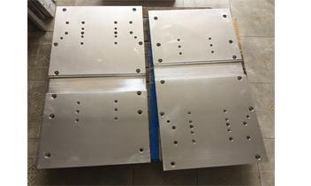 We export the large size mold back plate to US