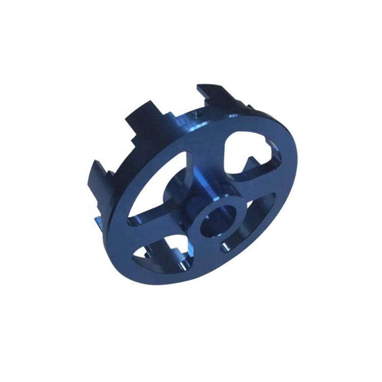 Professional Custom Machining CNC Service, Aluminum CNC Machining Processing, Blue Anodized 4 Axis CNC Turning Aluminum Part